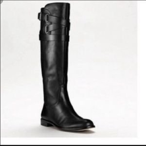 """Coach """"Cayden"""" black leather riding boots"""